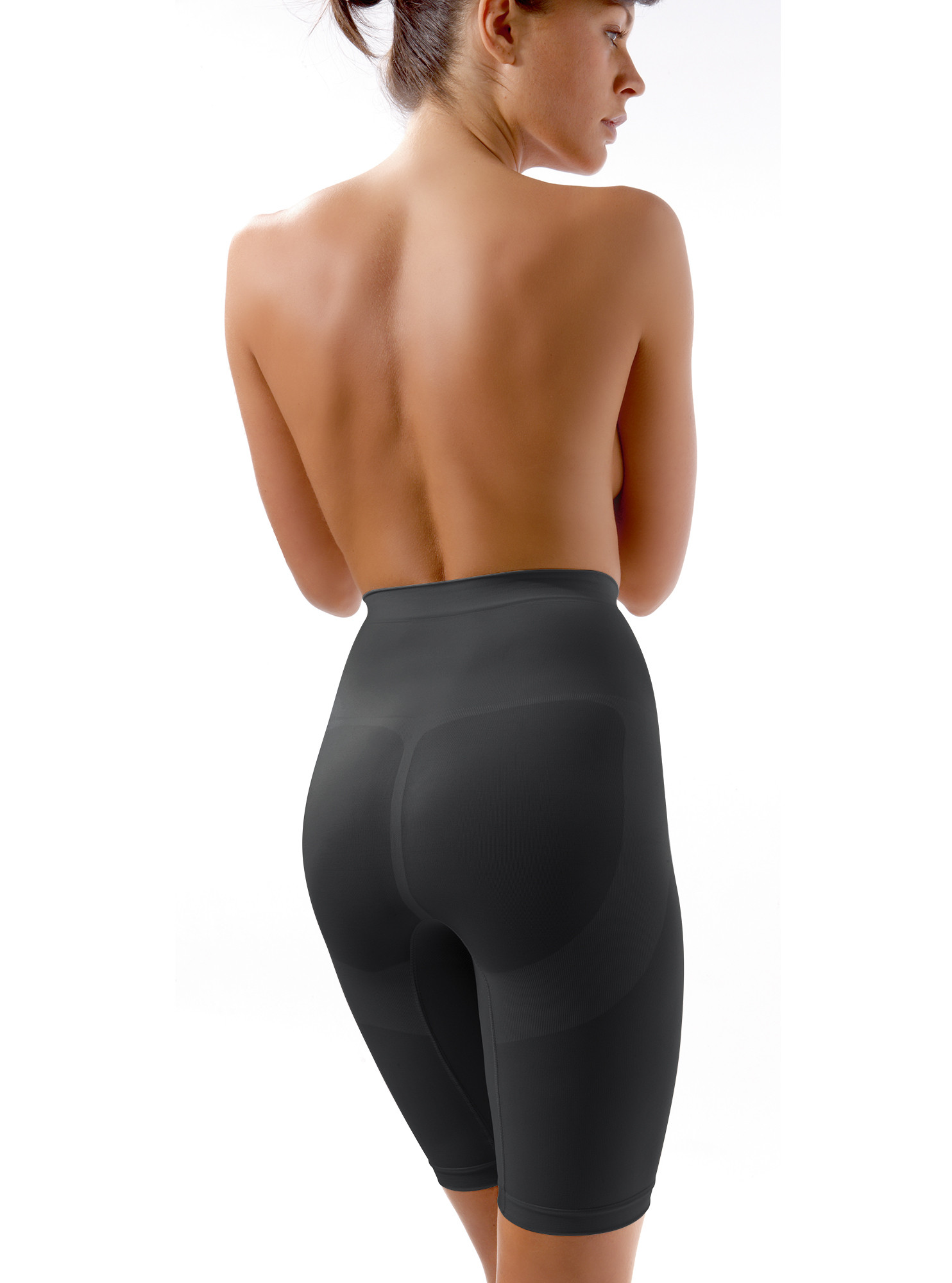 High-waist shaping girdle with tummy control, firm compression