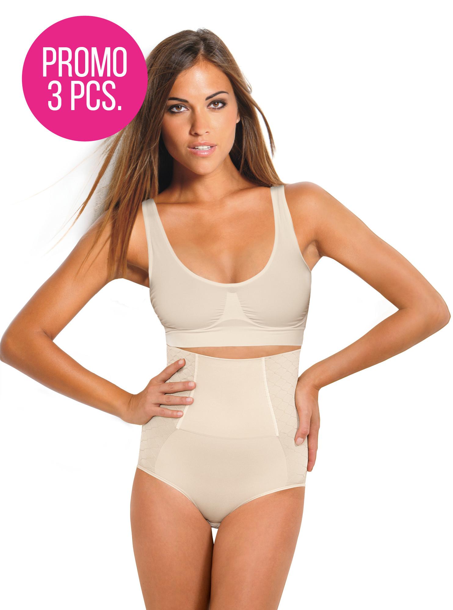 slip modellante con corsetto -promo 3 pezzi