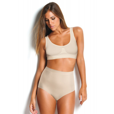 Ultra light shaping brief with tummy control